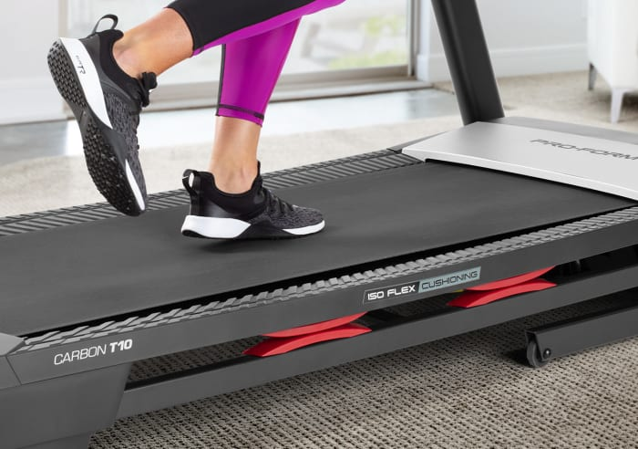 Step Down for a Soft Landing with ISO Flex™ cushioning
