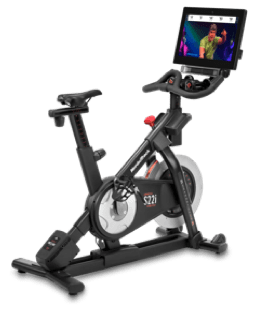 S22i exercise bike with an iFit program running