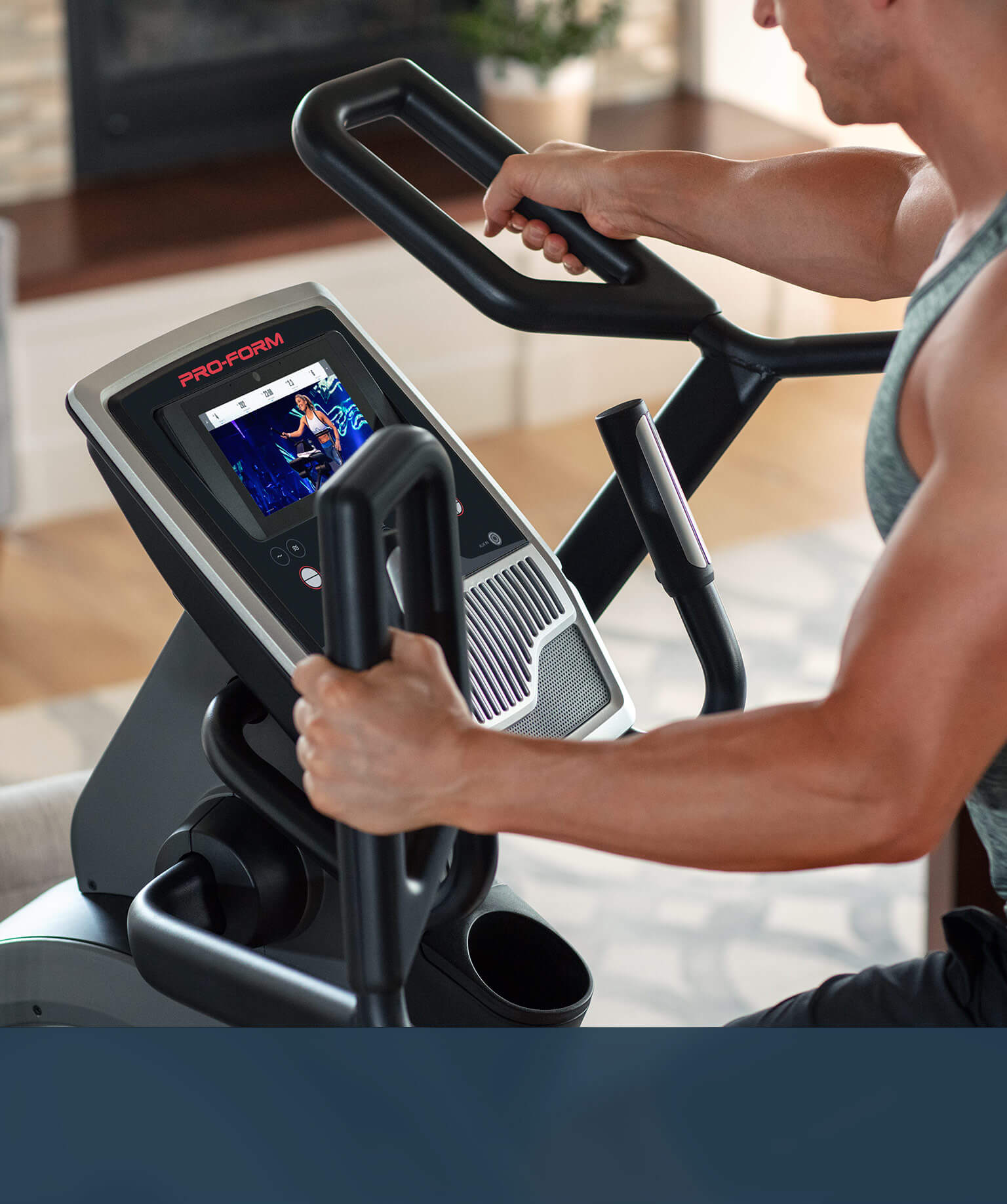 man using the Carbon HIIT H7 large
