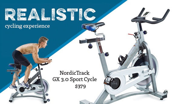 Realistic cycling experience, NordicTrack GX 3.0 Sport Cycle
