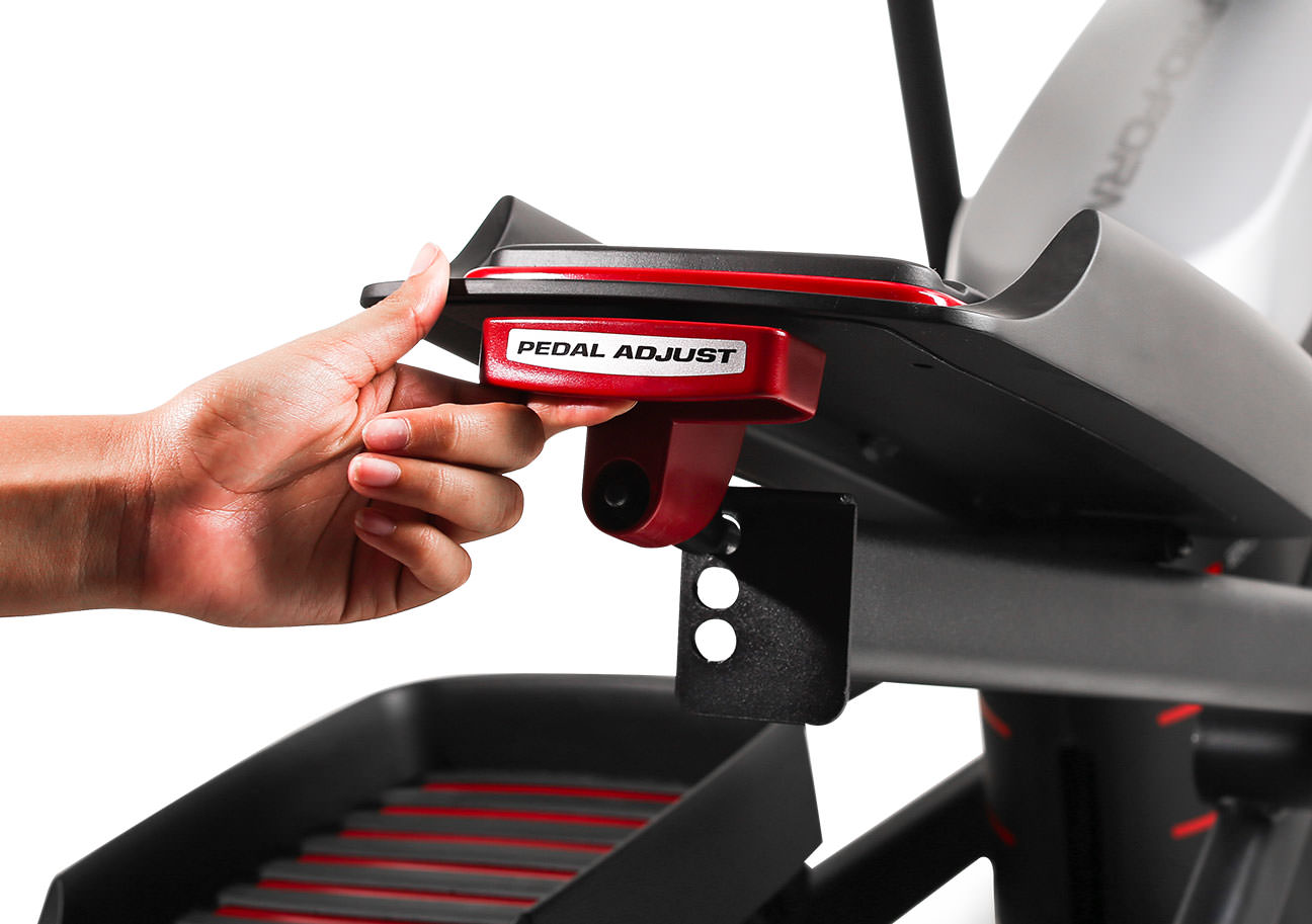 adjustable pedals on the endurance 720 e elliptical