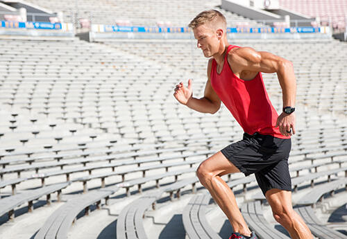 image of an ifit interval training workout