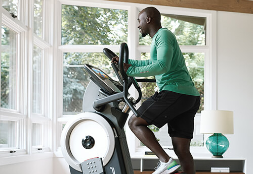 man using the HIIT Trainer Pro