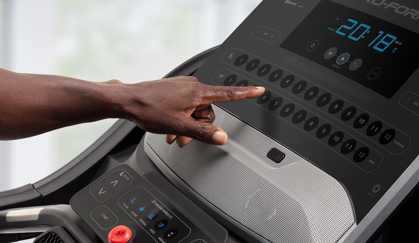 Speed and Incline at the Touch of a Button