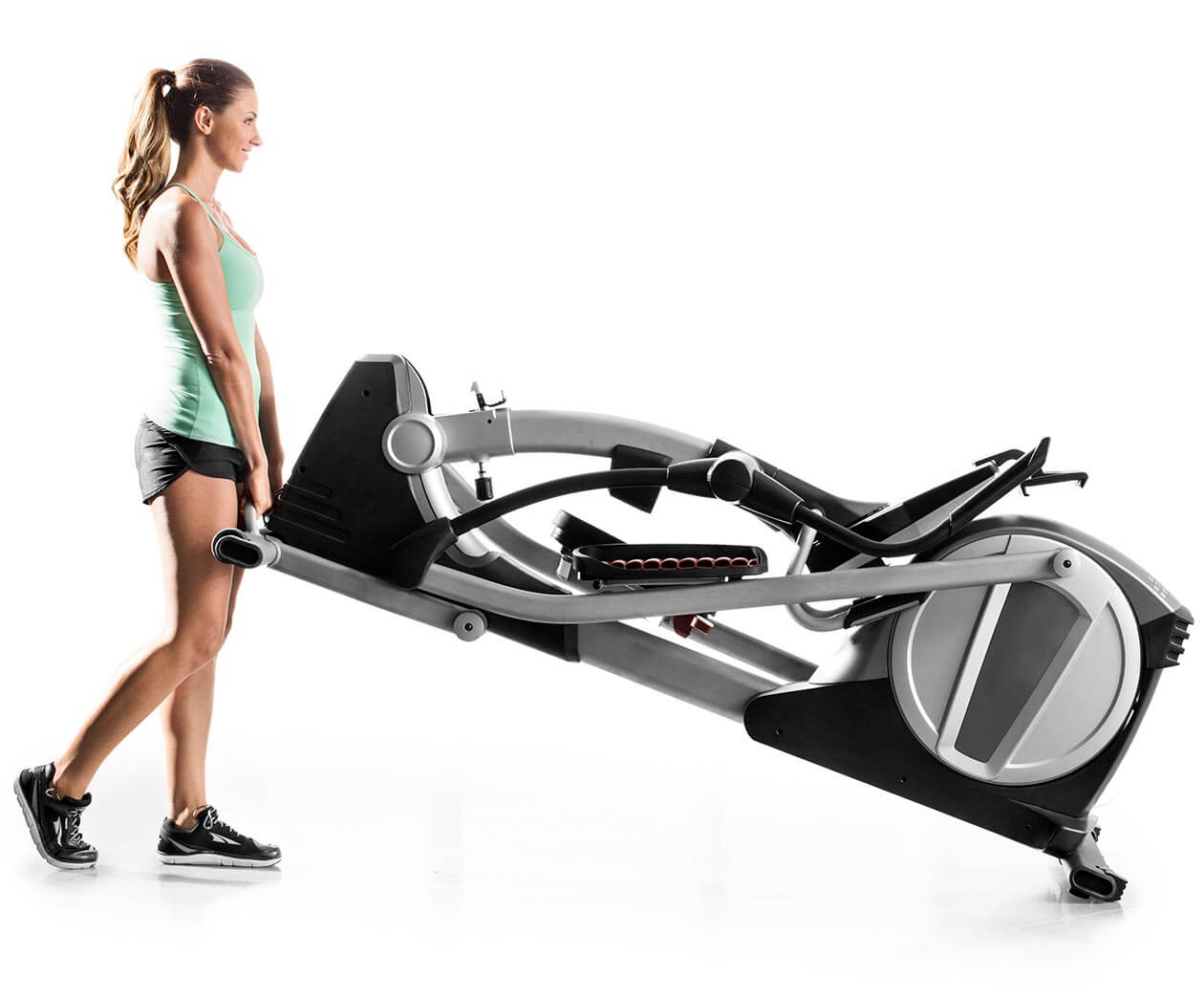 woman moving the smart strider 895 cse